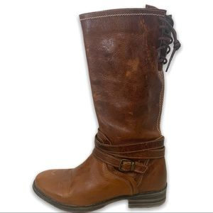 Bed|stü 'Paros' Leather Boots in Carmel Colour